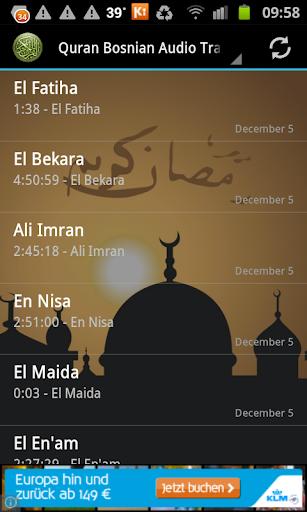 Quran Bosnian Translation MP3