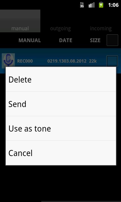 PhoneTapper - screenshot