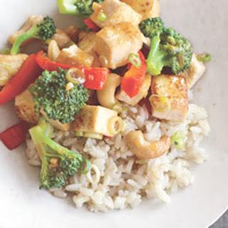 Cashew, Tofu, and Broccoli Stir-Fry.