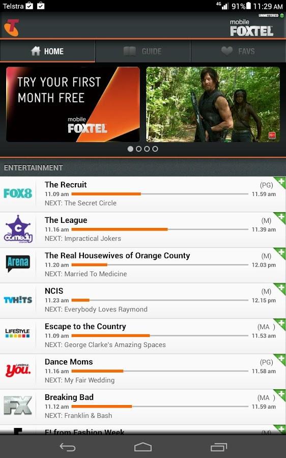 Mobile FOXTEL - screenshot