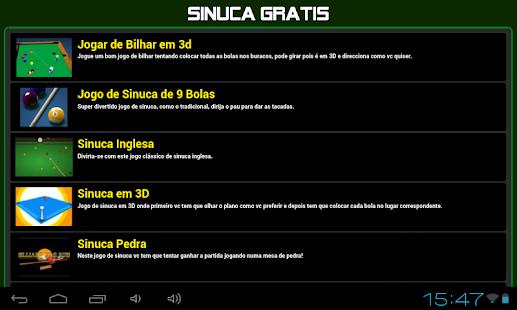 Jogos de sinuca gratis - screenshot thumbnail