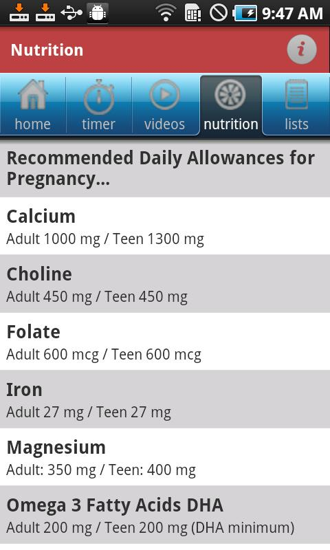 iBirth Pregnancy App - screenshot
