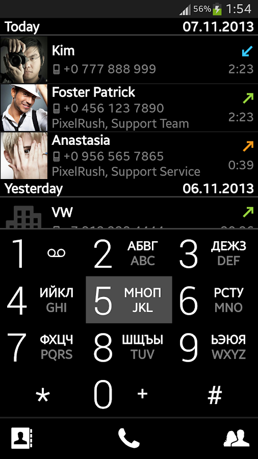 PP – Dialer and Contacts - screenshot