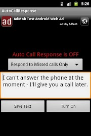 Auto Call Response Screenshot 2