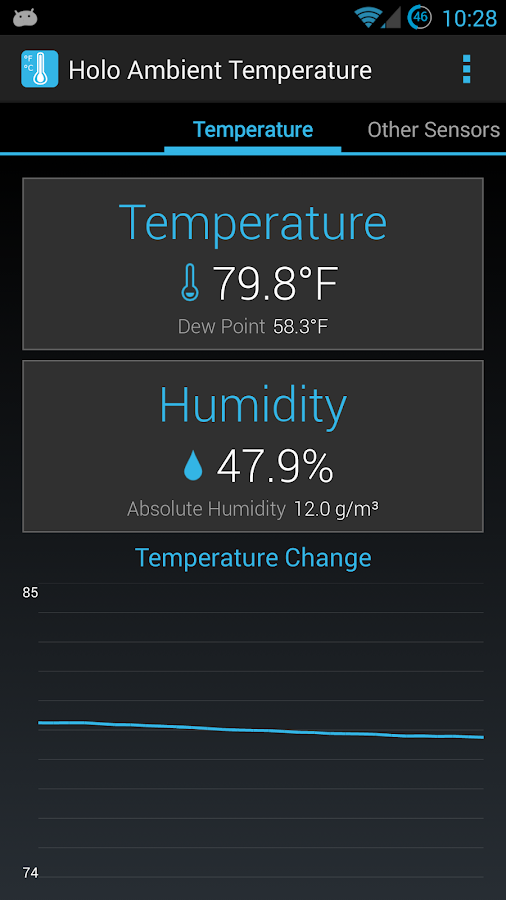 Holo Ambient Temperature - screenshot