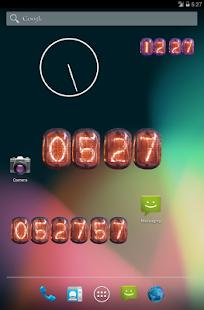 玩個人化App|Nixie Clock Widget Deluxe免費|APP試玩