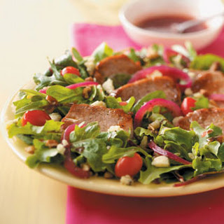 Warm Pork and Raspberry Salad