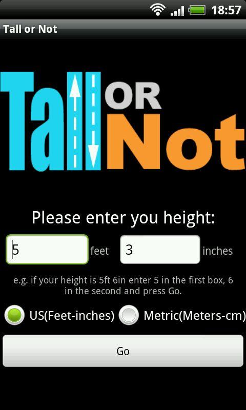 Tall or Not?- screenshot