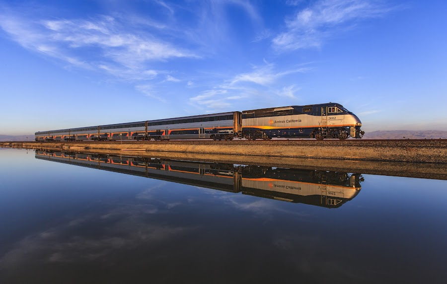 The train. by Bruce Nguyen - Transportation Trains