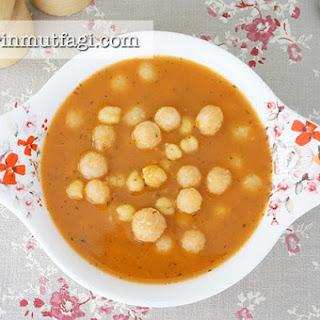 Sour Bulghur Kofta And Chickpeas Soup.