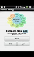 Screenshot of Business Plan App