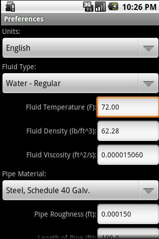 HVAC Pipe Sizer - Liquid- screenshot