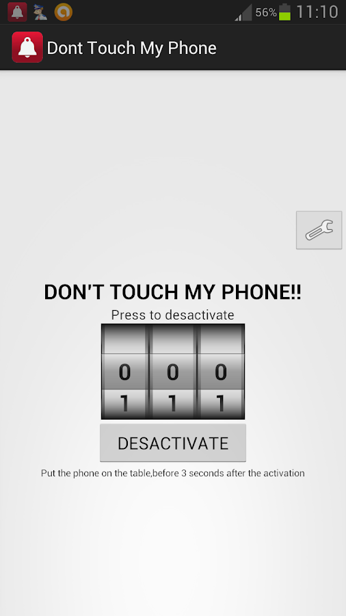 Don't touch my phone- screenshot