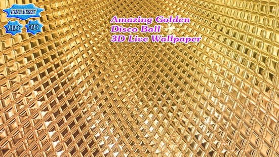 Amazing Golden Disco Ball 3D - náhled