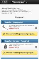 Screenshot of PriceAssist