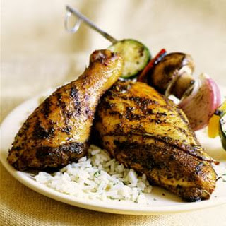 Grilled Chicken with Herb Rub