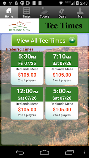 Redlands Mesa Golf Tee Times