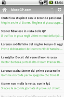 Screenshot of Moto GP News