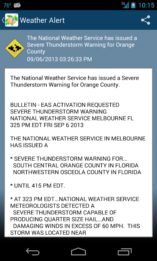 OCFL Alert- screenshot