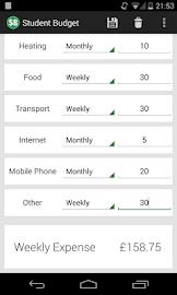 Student Budget Screenshot 3