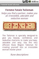 Screenshot of Irresistible Woman Talisman