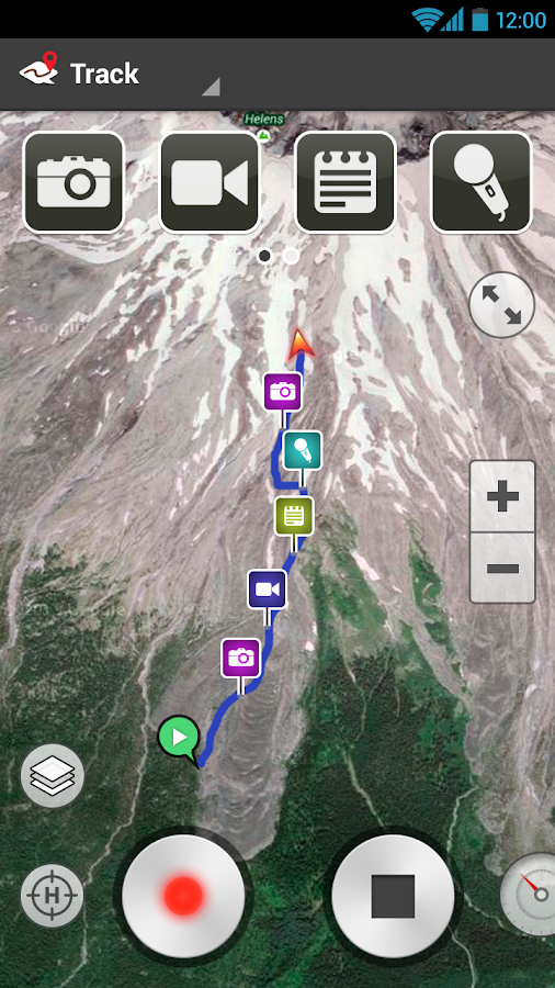 ramblr (hiking, gps, map)- screenshot