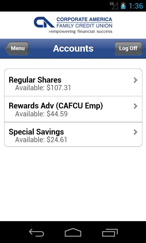CAFCU - screenshot