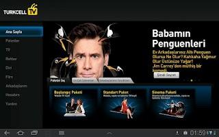 Screenshot of Turkcell TV Tablet
