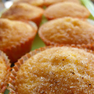 Lemon Muffins with Cinnamon and Sugar Topping.