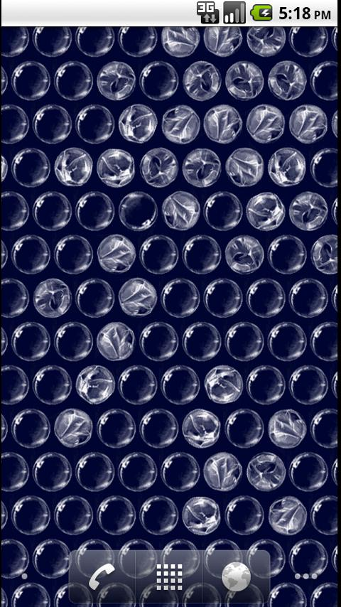 Bubblewrap LWP FREE- screenshot