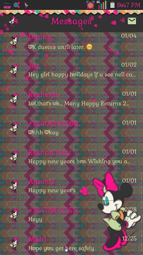Too Cute Minnie go sms
