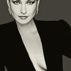 Diva by Bill Morris - Black & White Portraits & People ( model, b&w, gloves, beauty )