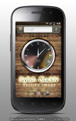 スタイリッシュアナログ時計ウィジェットⅣ