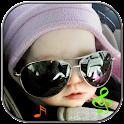 Funny kids ringtone logo