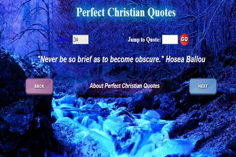 Perfect Christian Quotes - screenshot