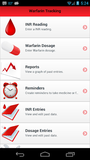 Warfarin INR Tracking