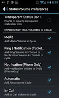 Screenshot of Status Bar Volume Panel Plus