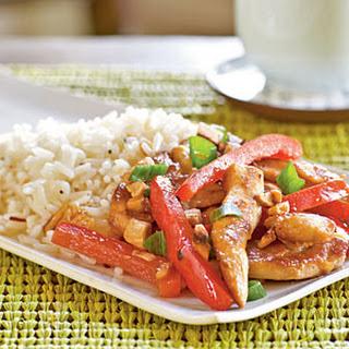 Chicken, Cashew, and Red Pepper Stir-Fry.