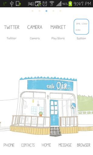 Cafe Oia Go Launcher theme