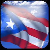 3D Puerto Rico Flag