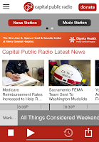 Screenshot of Capital Public Radio App