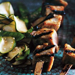 Miso-Glazed Tuna Kebabs.