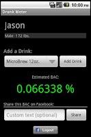 Screenshot of J2J Drunk Meter