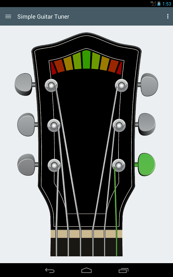 Simple Guitar Tuner - screenshot