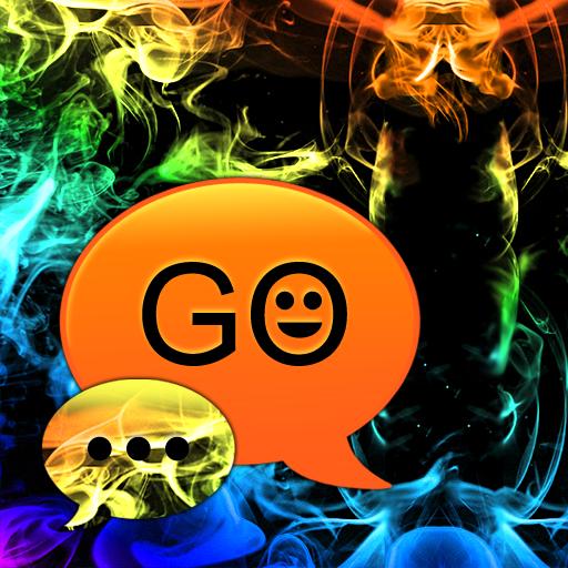 GO SMS Theme Rainbow Smoke Buy LOGO-APP點子