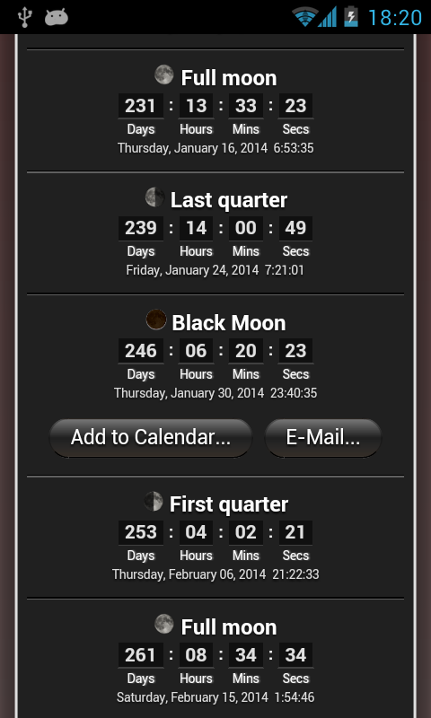 Moon Phase - screenshot