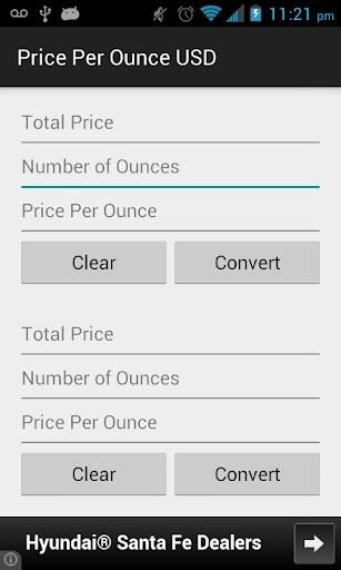 Price Per Ounce USD
