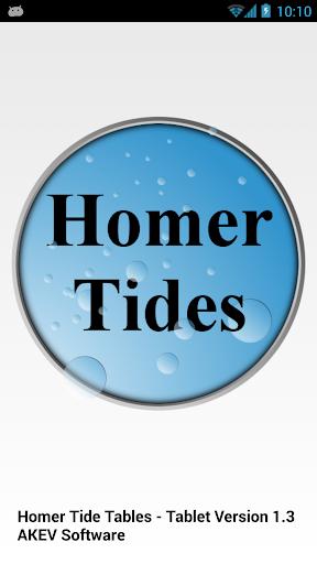 Homer Tide Tables Tablet