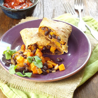 Butternut Squash Black Bean Chimichangas