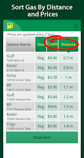 Simple Cheap Gas Prices Finder- screenshot thumbnail